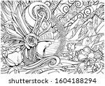 screaming valkyrie in an... | Shutterstock .eps vector #1604188294