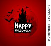 happy halloween sign and theme... | Shutterstock .eps vector #160423349