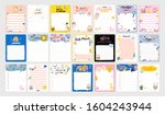 collection of weekly or daily... | Shutterstock .eps vector #1604243944