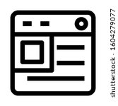 web page icon isolated sign...