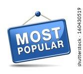 most popular sign popularity... | Shutterstock . vector #160430519