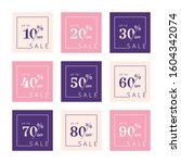 set of discount price tags.... | Shutterstock .eps vector #1604342074