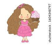 Cute Little Girl Character...