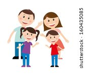 family design over white... | Shutterstock .eps vector #160435085
