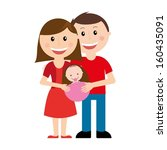 family design over white... | Shutterstock .eps vector #160435091