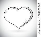 heart. black hand drawn icon.... | Shutterstock .eps vector #1604365567
