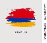 flag of armenia   republic of... | Shutterstock .eps vector #1604385994