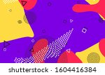 lavender 90s backdrop. retro... | Shutterstock .eps vector #1604416384