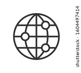 globe with point  linear icon.... | Shutterstock .eps vector #1604497414