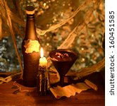 witch potion with burning... | Shutterstock . vector #160451585