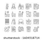 pharmacy black icons set....