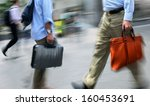 business people at rush hour... | Shutterstock . vector #160453691