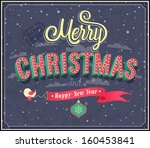 merry christmas typographic... | Shutterstock .eps vector #160453841
