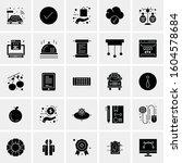 set of 25 universal business... | Shutterstock .eps vector #1604578684
