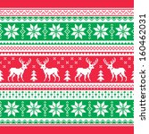 christmas and winter knitted... | Shutterstock .eps vector #160462031