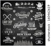 christmas set   labels  emblems ...