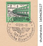 Germany circa 1960 a stamp...