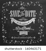 save the date wedding... | Shutterstock .eps vector #160463171