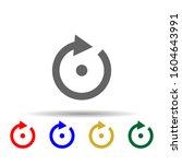 arrow  point multi color style...