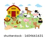 set of farm animals  horse ...   Shutterstock .eps vector #1604661631