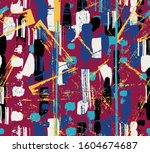 abstract background  with paint ... | Shutterstock .eps vector #1604674687