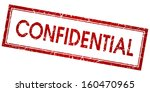 confidential red square vector... | Shutterstock .eps vector #160470965