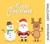 cute christmas day cartoon... | Shutterstock .eps vector #1604727544