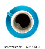 Blue Coffee Cup. View From...