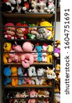 Small photo of YOGYAKARTA, INDONESIA - 3 January 2020; Stack cute dolls at a doll kiosk. doll background. Selective focus