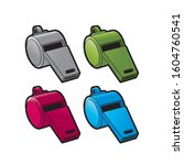 isolated whistle color... | Shutterstock . vector #1604760541