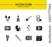 melody icons set with banjo ... | Shutterstock .eps vector #1604777464