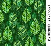 leaf seamless pattern   Shutterstock .eps vector #160477781