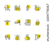 anatomy icons set with...