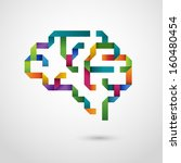 creative concept of the brain ... | Shutterstock .eps vector #160480454