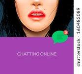 chatting online background ...