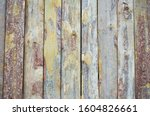 Wooden Wall Of Old House. Glued ...