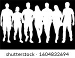 group of people. crowd of... | Shutterstock . vector #1604832694