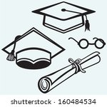 student accessories. graduation ... | Shutterstock .eps vector #160484534