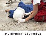 work accident | Shutterstock . vector #160485521