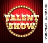 talent show banner  poster ... | Shutterstock .eps vector #1604855281