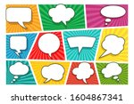 colorful comic book page... | Shutterstock . vector #1604867341