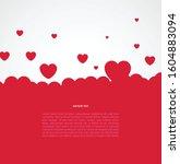 bubble hearts background....   Shutterstock .eps vector #1604883094