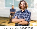portrait of confident mid adult ... | Shutterstock . vector #160489031