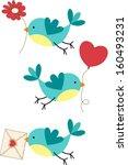 cute three love birds
