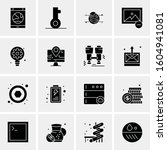 16 universal business icons... | Shutterstock .eps vector #1604941081