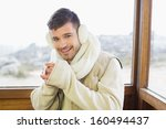 portrait of a smiling young man ... | Shutterstock . vector #160494437