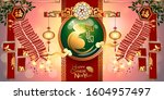 abstract chinese new year 2020... | Shutterstock .eps vector #1604957497
