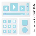 music player and elements vector | Shutterstock .eps vector #160499054