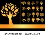 set of 20 golden tree...