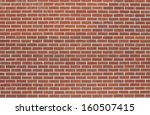 Background Of A Red Brick Wall...